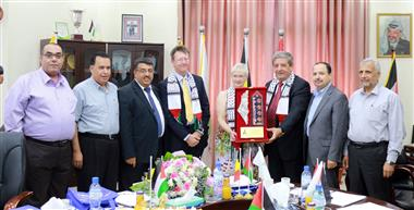 A delegation from the Belgian Consulate General in Jerusalem visits Al