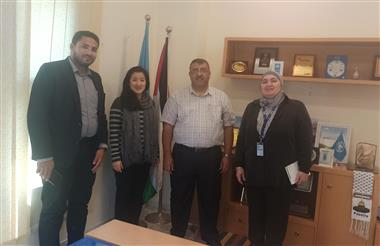 A Delegation from Al-Aqsa University Visited the UNDP Office in Gaza