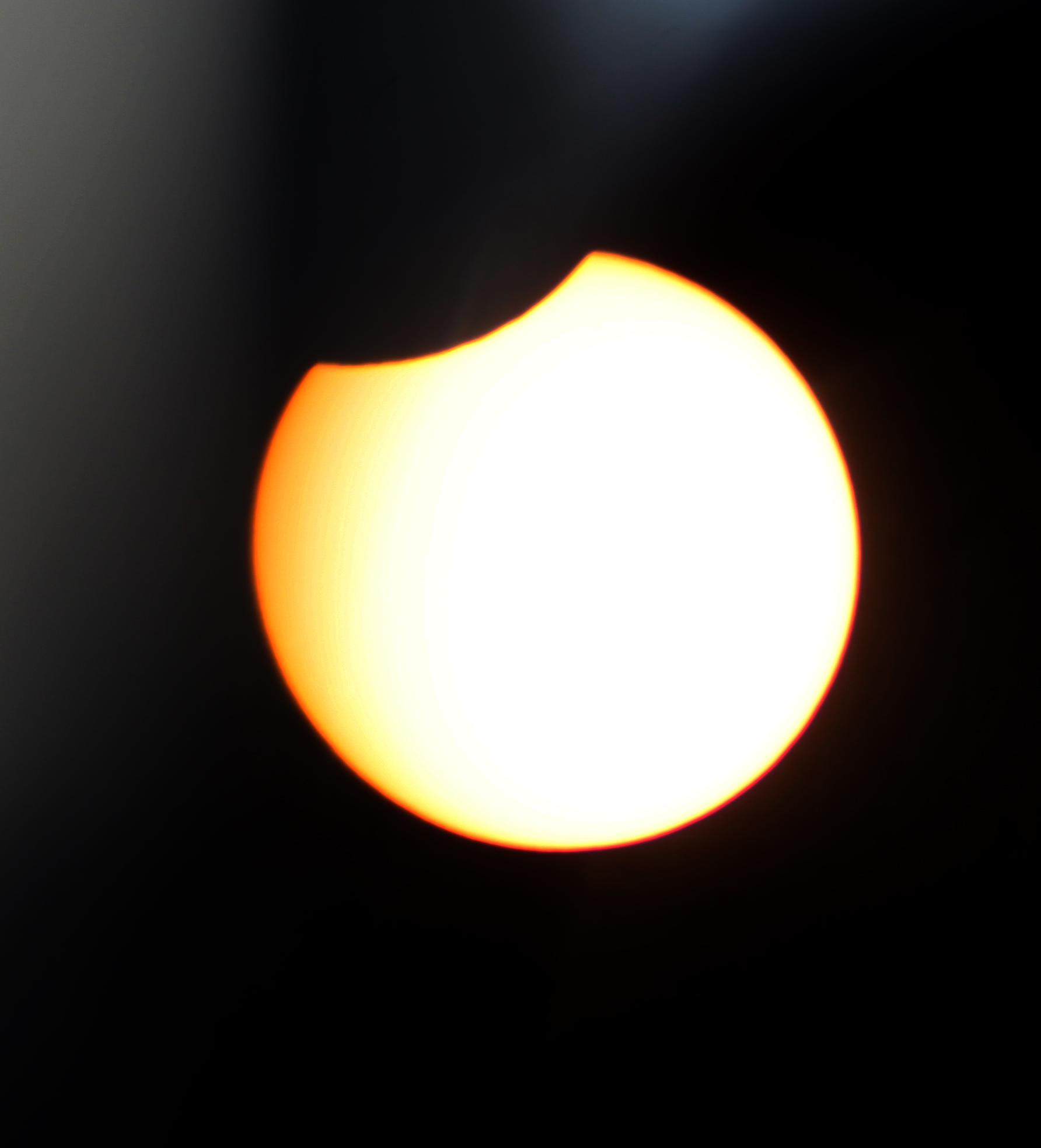 الشمس لحظة  الكسوف