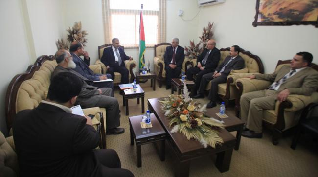 زيارة وفد الجامعة لوزارة الصحة الفلسطينية