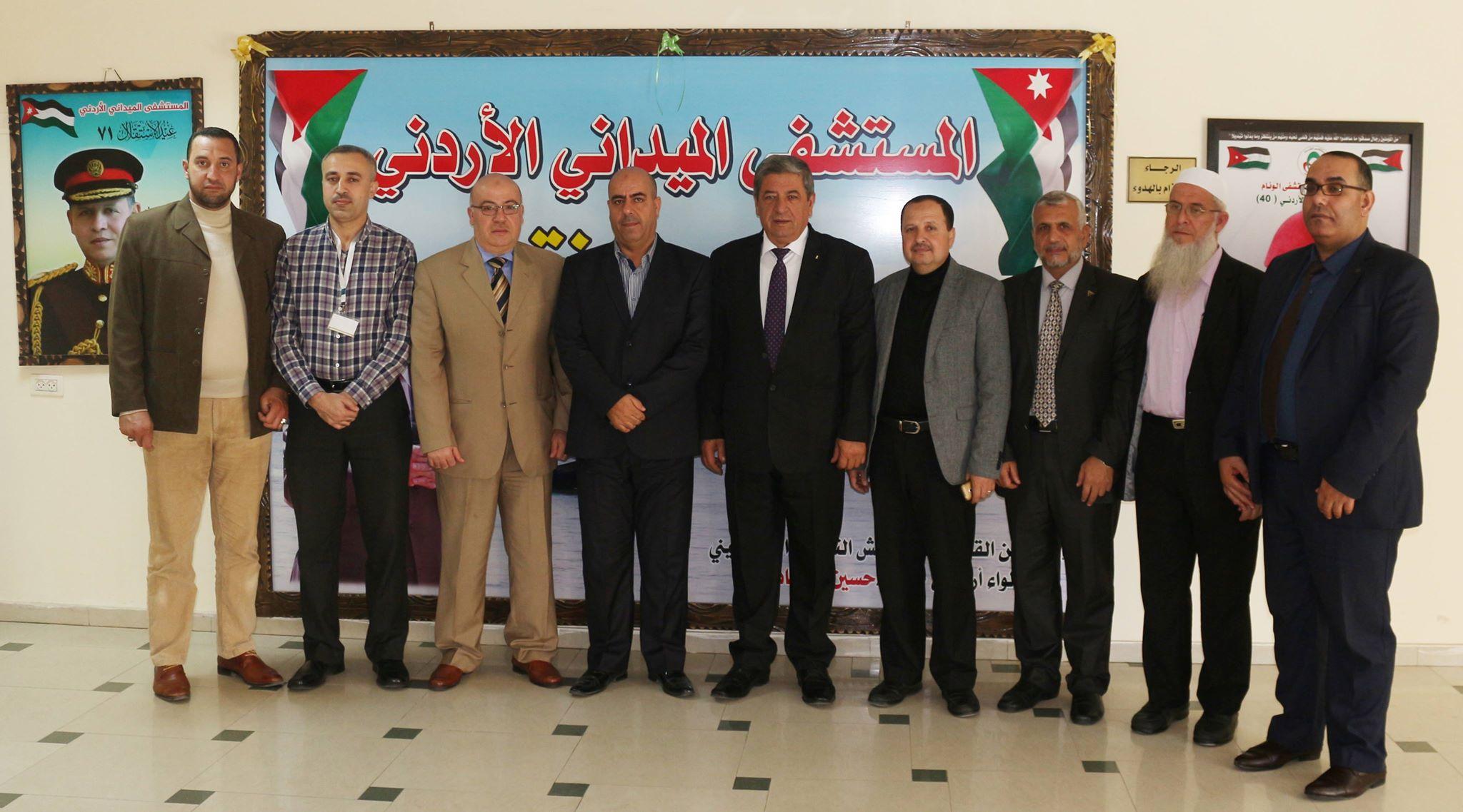 وفد من الجامعة يزور المستشفى الميداني الأردني غزة